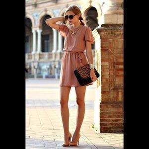 Bar III Dress, dusty rose dress, sz XS